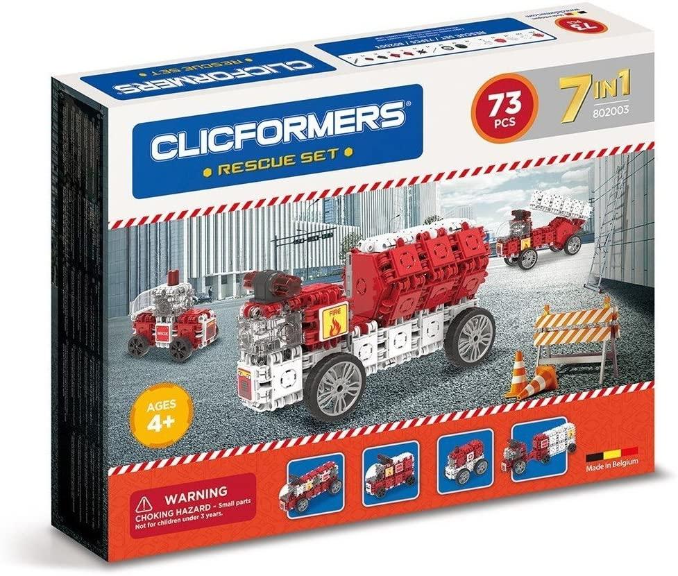 Set constructie masini de interventie clicformers 73 piese imagine