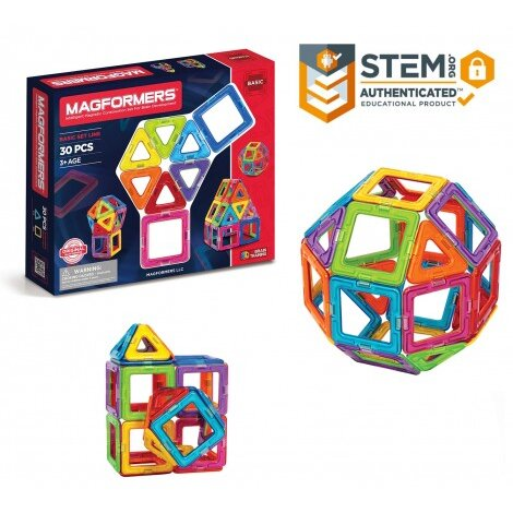 Set constructie magnetic magformers 30 piese clics toys imagine