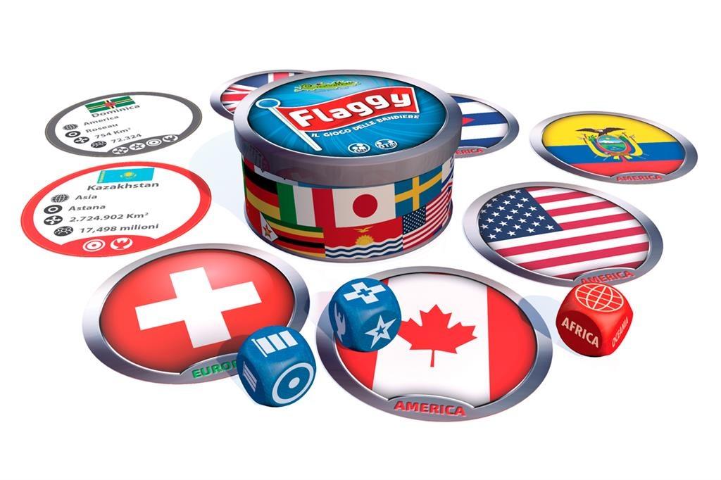 Joc de societate cu zaruri steagurile lumii creativamente