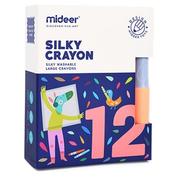 Creioane colorate moi cerate lavabile 12 buc mideer