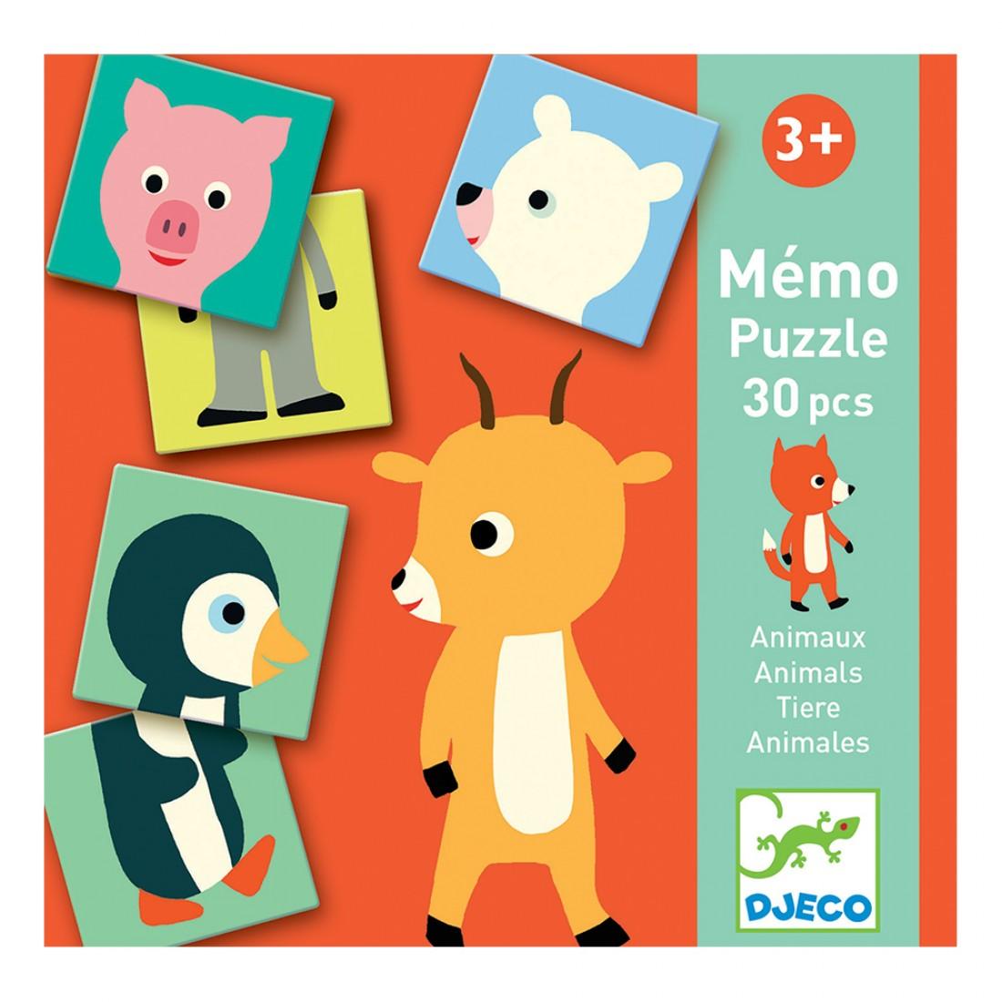 Joc memo animo puzzle djeco