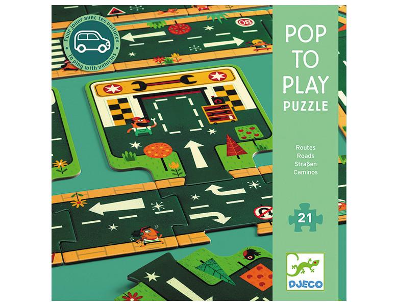 Puzzle gigant drumuri si trasee auto djeco imagine