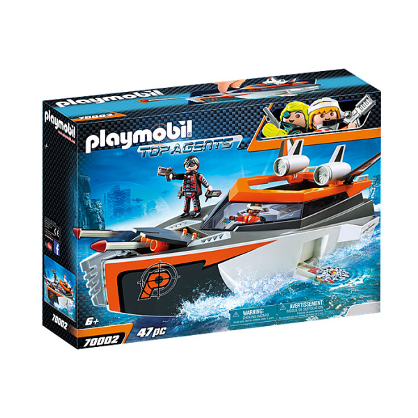 Echipa de spioni cu barca playmobil top agents
