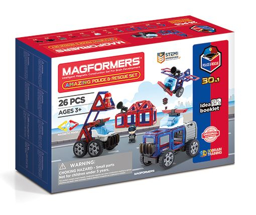Set constructie magnetic magformers masini 26 piese clics toys imagine