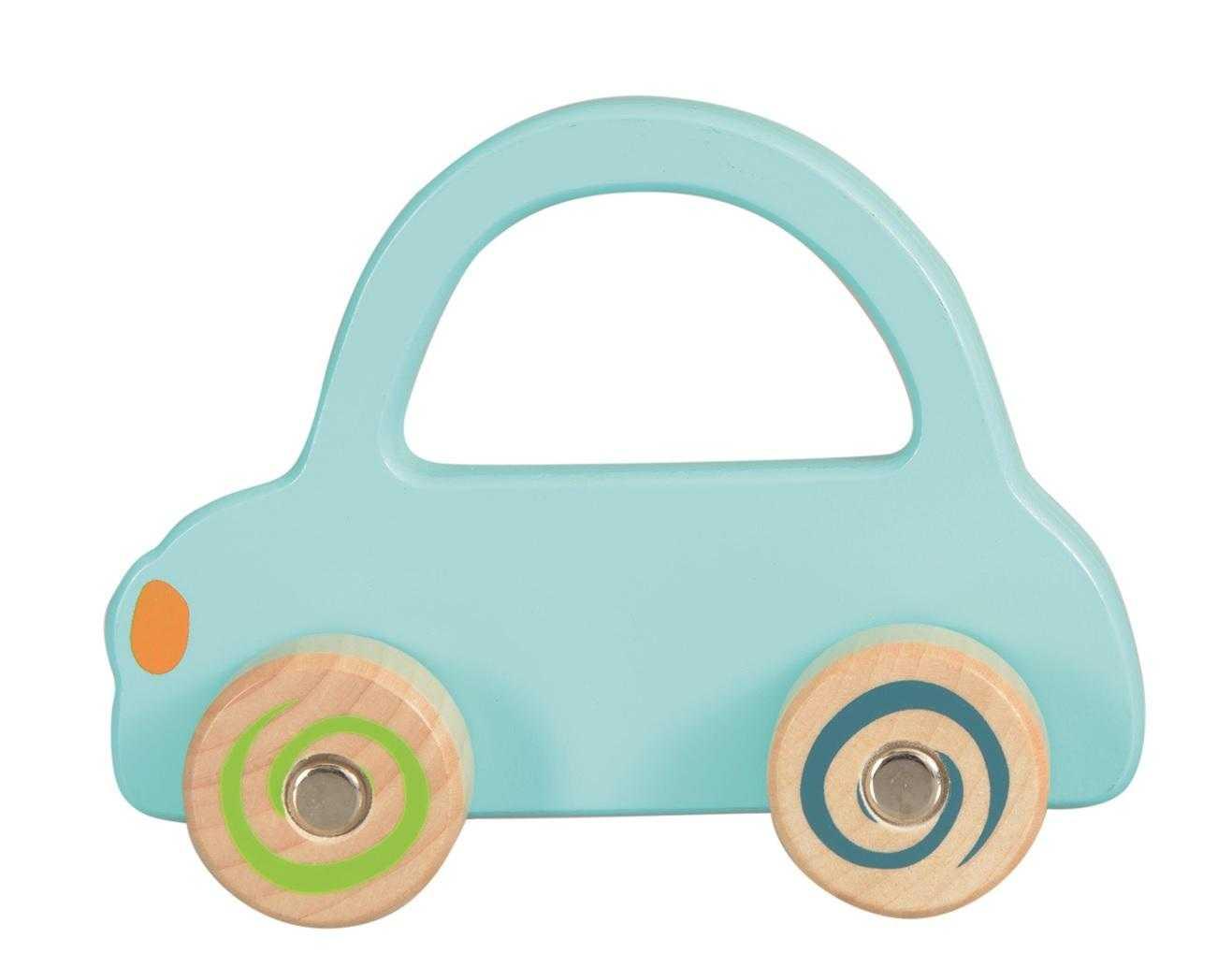 Masinuta lemn albastru deschis egmont toys imagine