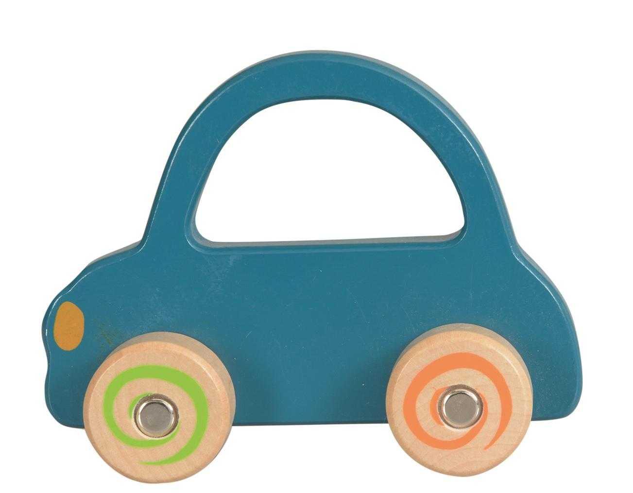 Masinuta lemn albastra egmont toys imagine
