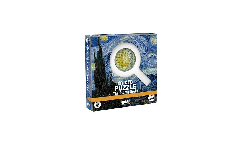 Micro puzzle noaptea instelata van gogh londji