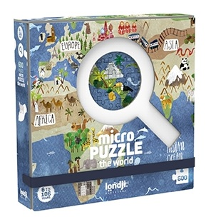 Micro puzzle continente 600 piese londji