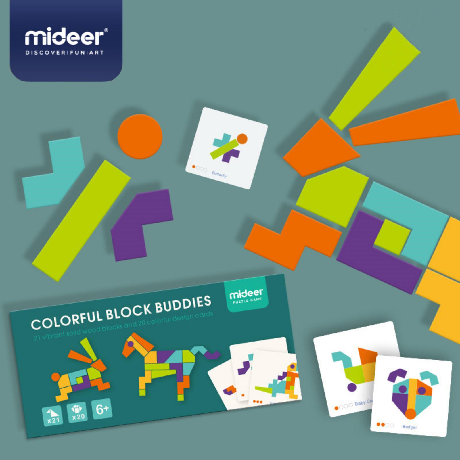 Joc tangram mozaic colorat mideer - 2