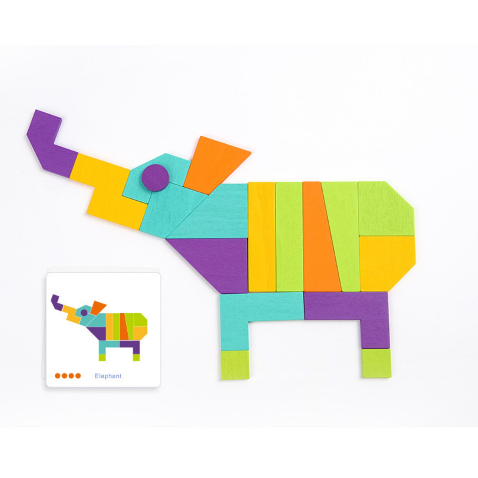 Joc tangram mozaic colorat mideer - 3