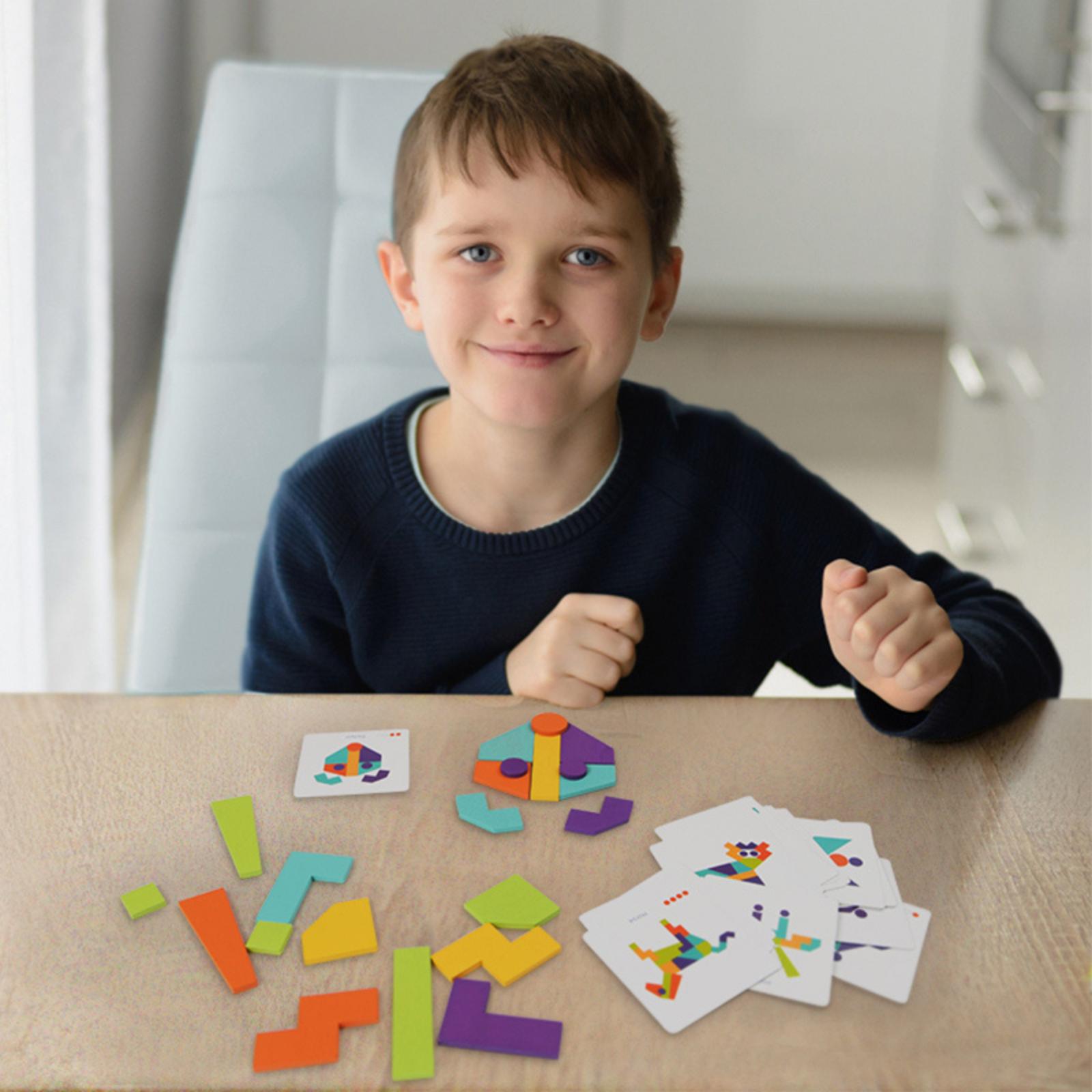 Joc tangram mozaic colorat mideer - 4