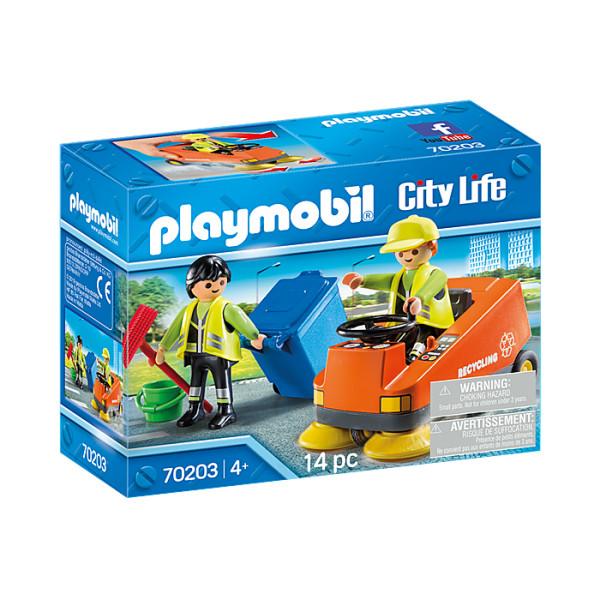 Agenti de salubritate cu masina playmobil city life