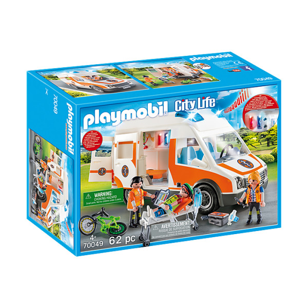 Ambulanta cu lumini intermitente playmobil city life