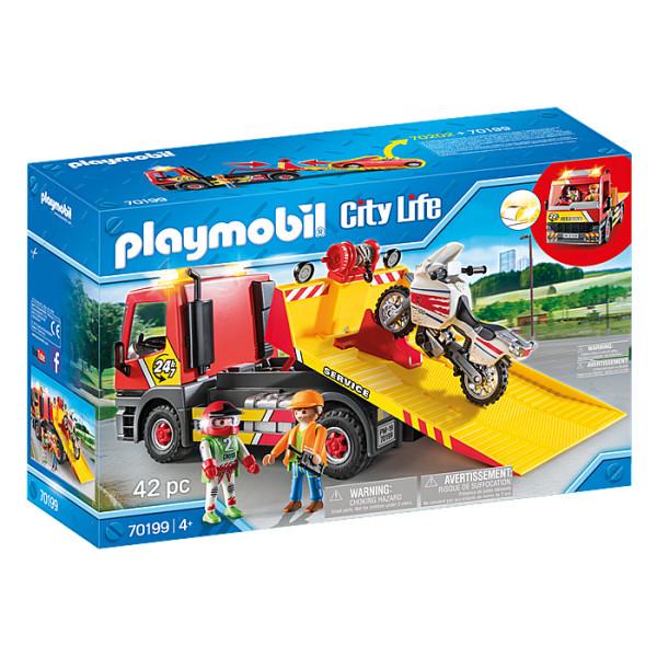 Masina de remorcare cu motocicleta playmobil city life
