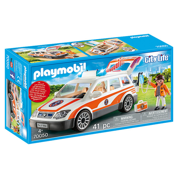 Masina de urgenta cu sirena playmobil city life