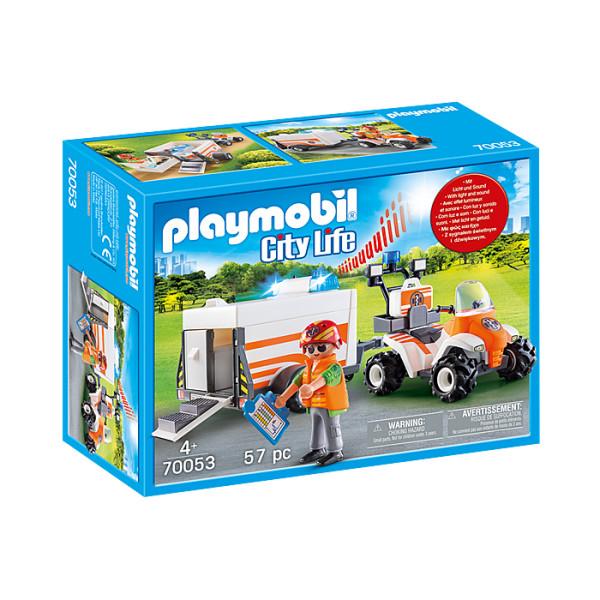 Medic cu atv si remorca playmobil city life