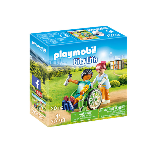 Pacient in scaun cu rotile playmobil city life
