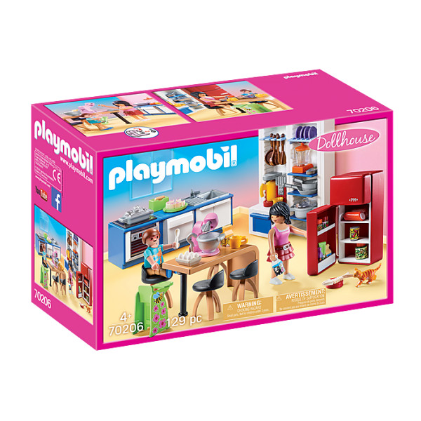 Bucataria familiei playmobil doll house