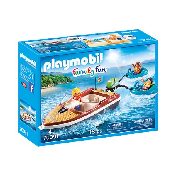 Barca cu motor playmobil family fun
