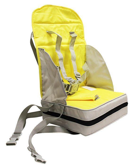 Inaltator scaun de masa portabil si pliabil galben-gri poupy imagine