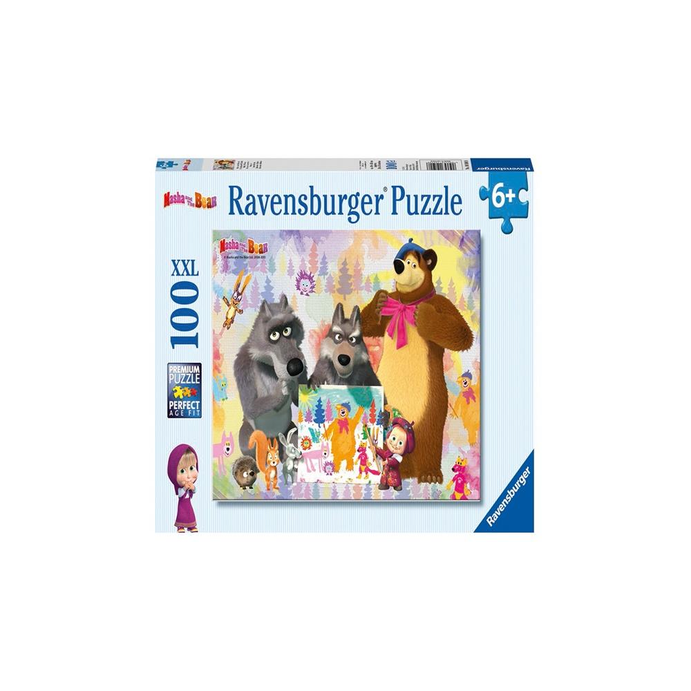 Puzzle masha si ursul 100 piese ravensburger imagine