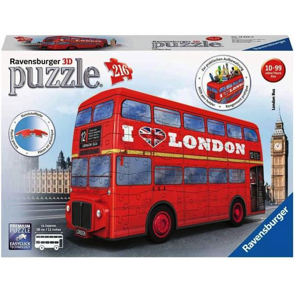 Puzzle 3d autobuz londra 216 piese ravensburger imagine