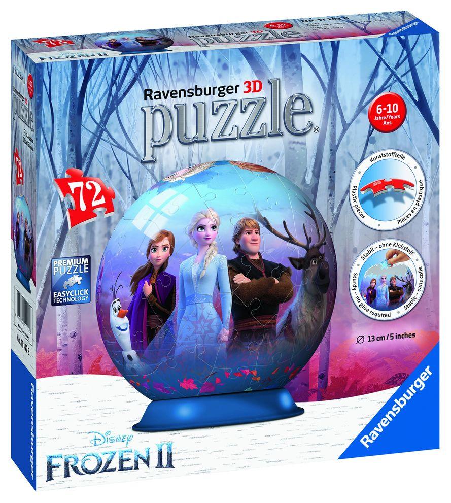 Puzzle 3d frozen 72 piese ravensburger imagine