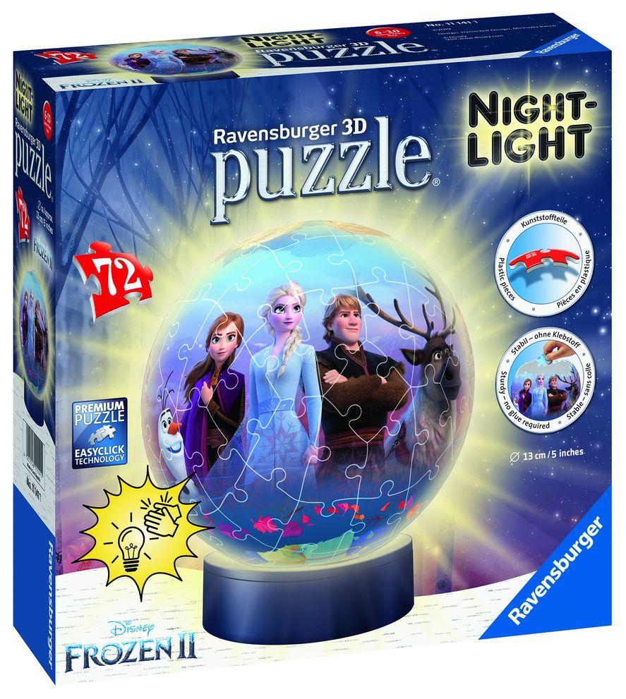 Puzzle 3d luminos frozen 72 piese ravensburger imagine