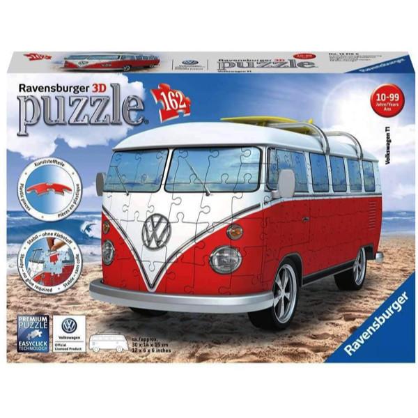 Puzzle 3d volkswagen 162 piese ravensburger imagine