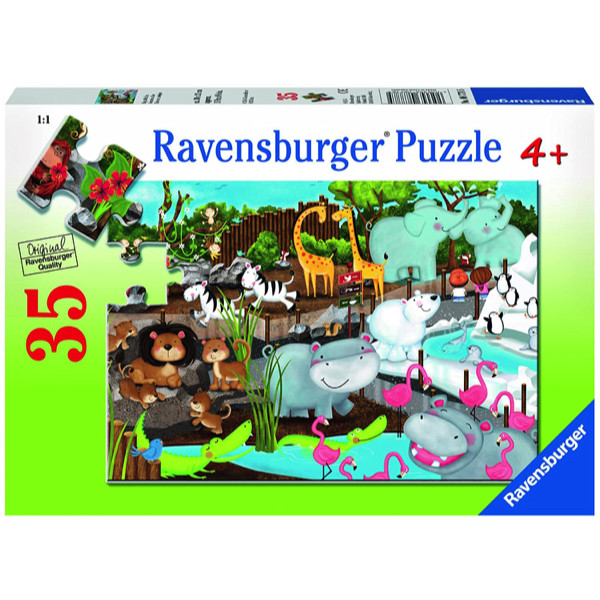 Puzzle animale la zoo 35 piese ravensburger