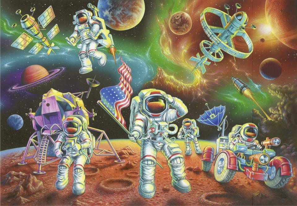 Puzzle astronauti 35 piese ravensburger - 1