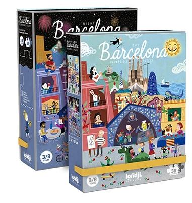 Puzzle reversibil zi si noapte 36 piese barcelona londji