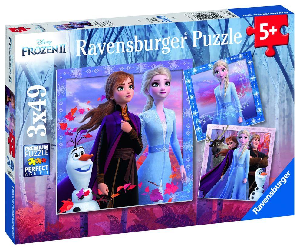 Puzzle frozen ii 3x49 piese ravensburger