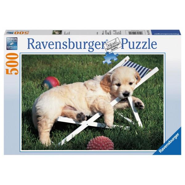 Puzzle golden retriever 500 piese ravensburger imagine
