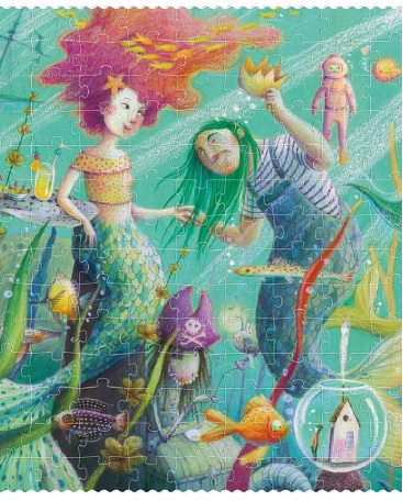 Puzzle sirena cu sclipici 350 piese londji