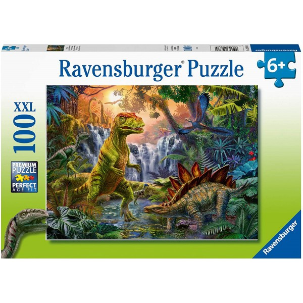 Puzzle oaza dinozaurilor 100 piese ravensburger