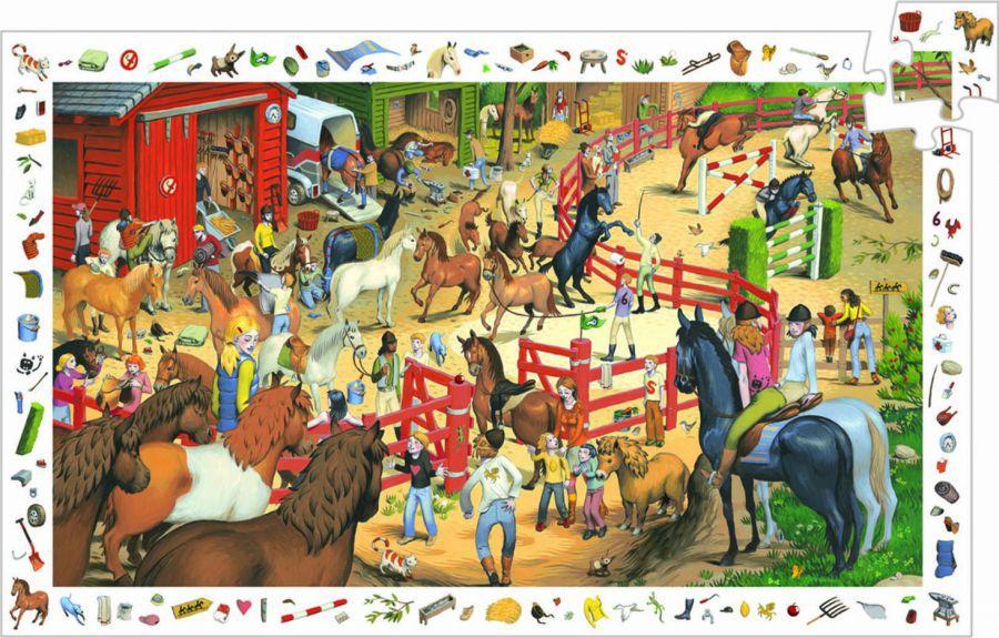 Puzzle observatie cu cai djeco