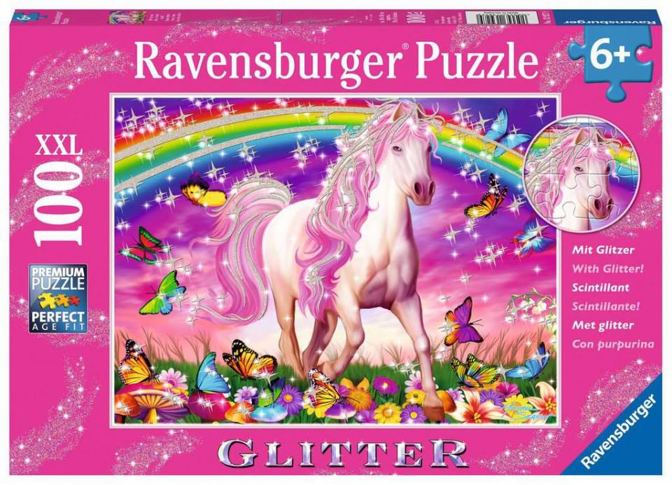 Puzzle unicorn si curcubeu 100 piese ravensburger