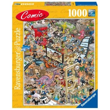Puzzle copii si adulti comic hollywood 1000 piese ravensburger