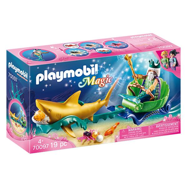 Regele marii cu trasura rechin playmobil magic