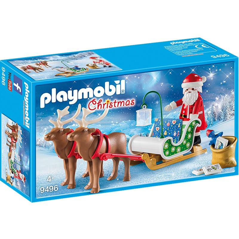 Sania lui mos craciuni cu reni playmobil christmas