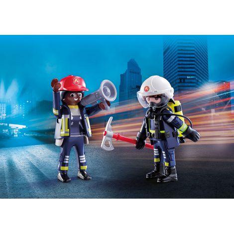 Set 2 figurine pompieri playmobil - 1