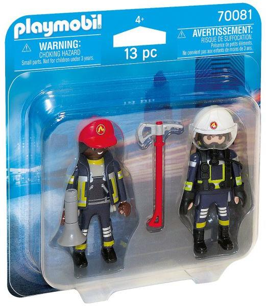 Set 2 figurine pompieri playmobil