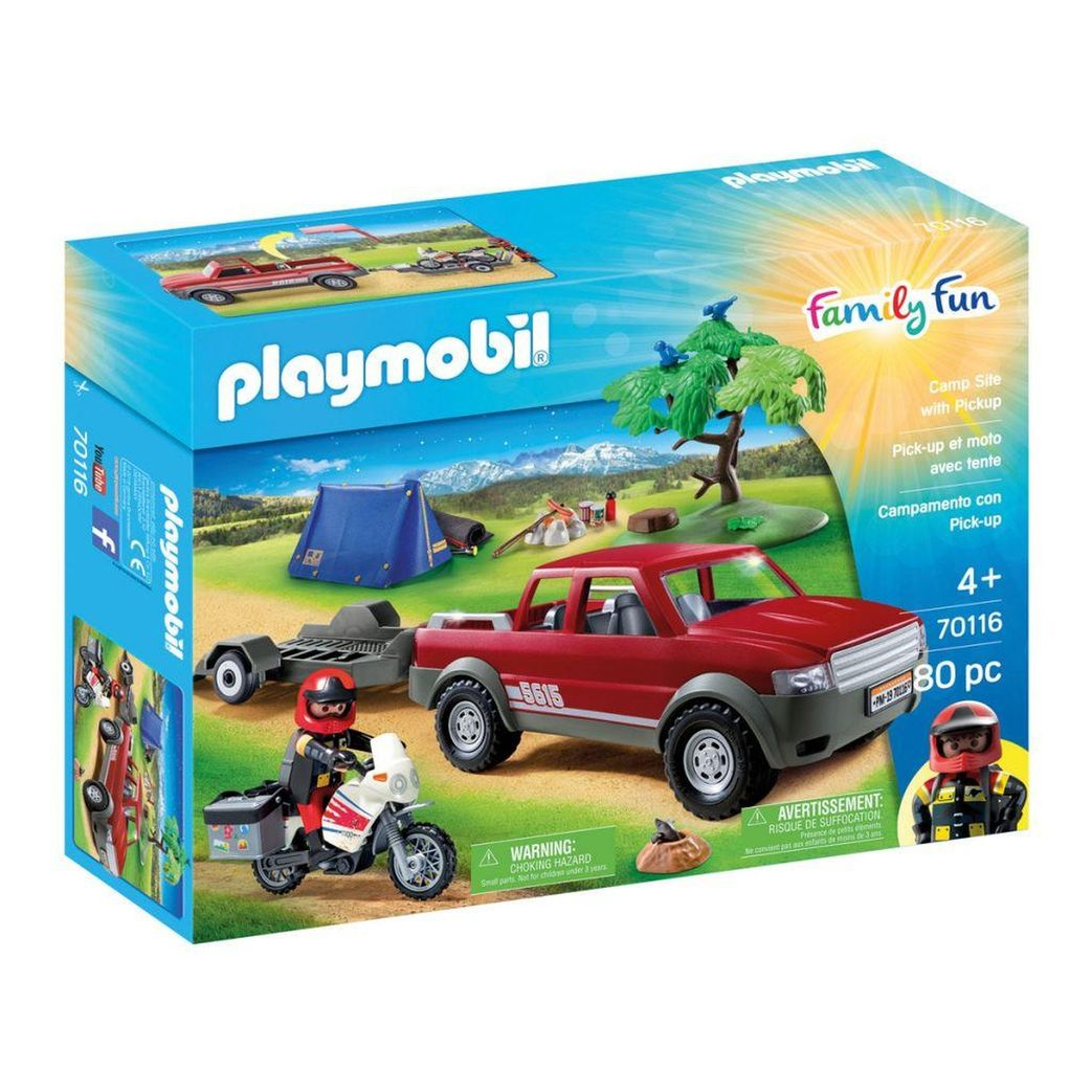 Set camping playmobil family fun