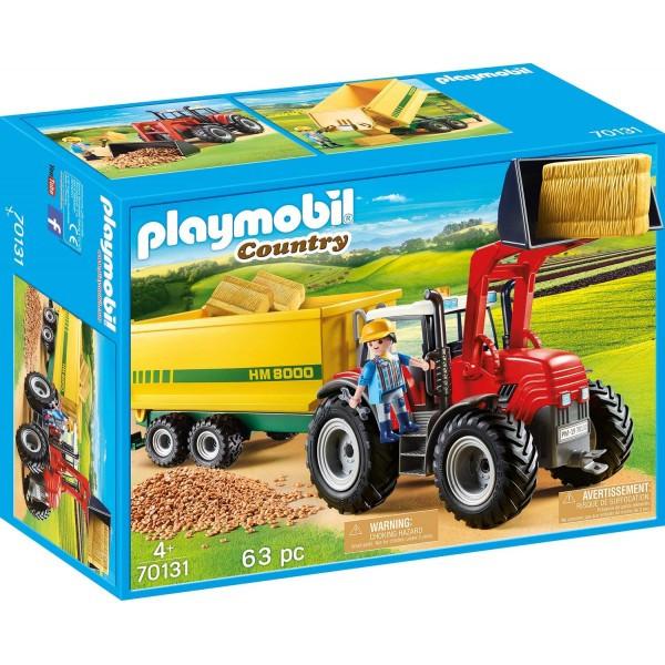 Tractor cu remorca galbena playmobil country