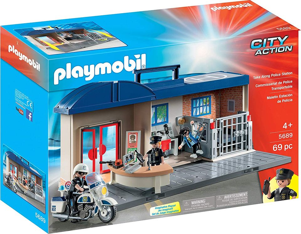 Set mobil statie de politie playmobil city action