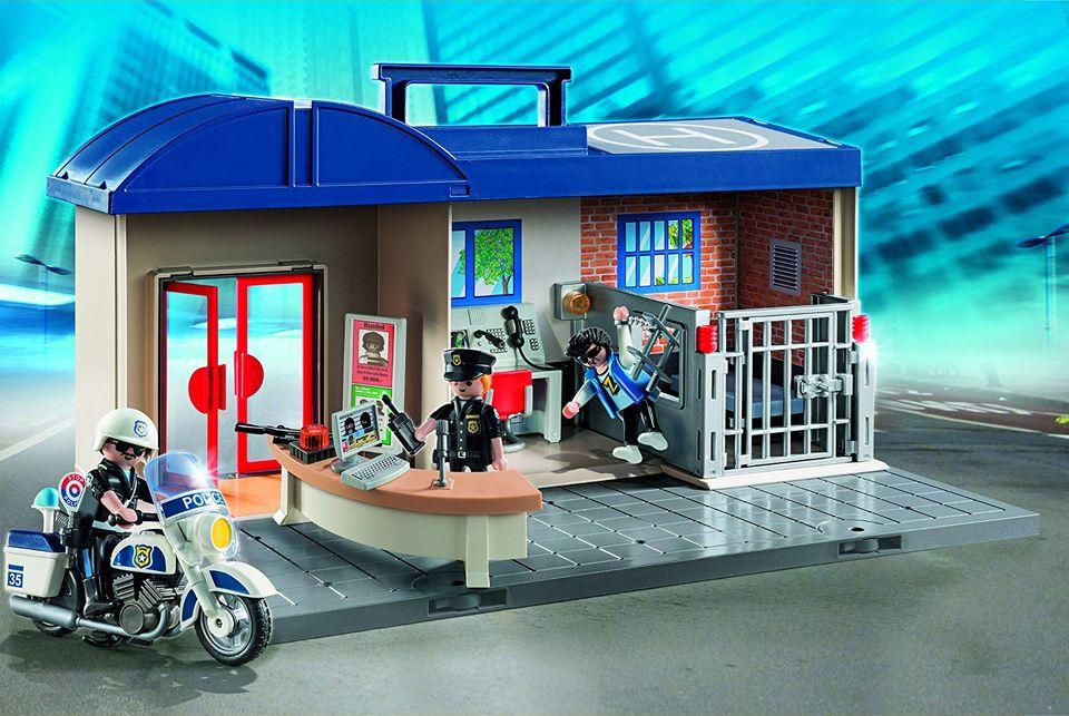 Set mobil statie de politie playmobil city action - 1