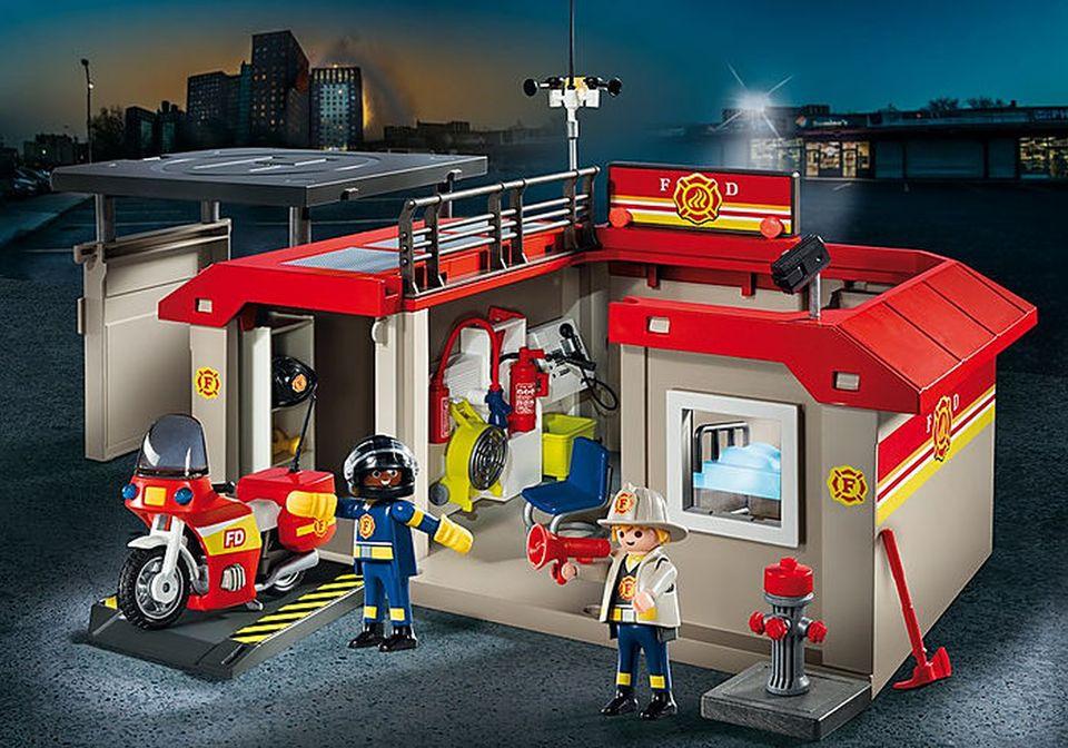 Set mobil statie de pompieri playmobil city action - 2