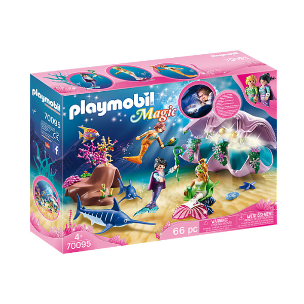 Sirene cu cochilie si perle playmobil magic