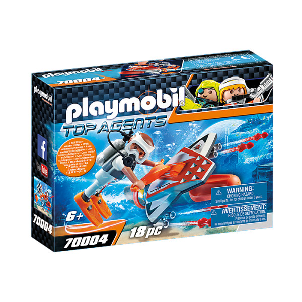 Spion cu propulsor subacvatic playmobil top agents